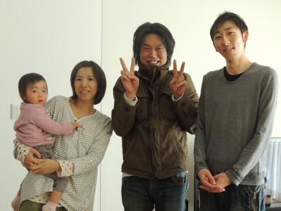 石坂さんご夫妻ととってもかわいいお子様