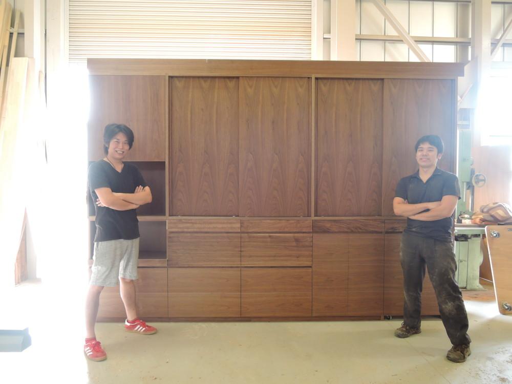 ダイニングボード(食器棚)造作1