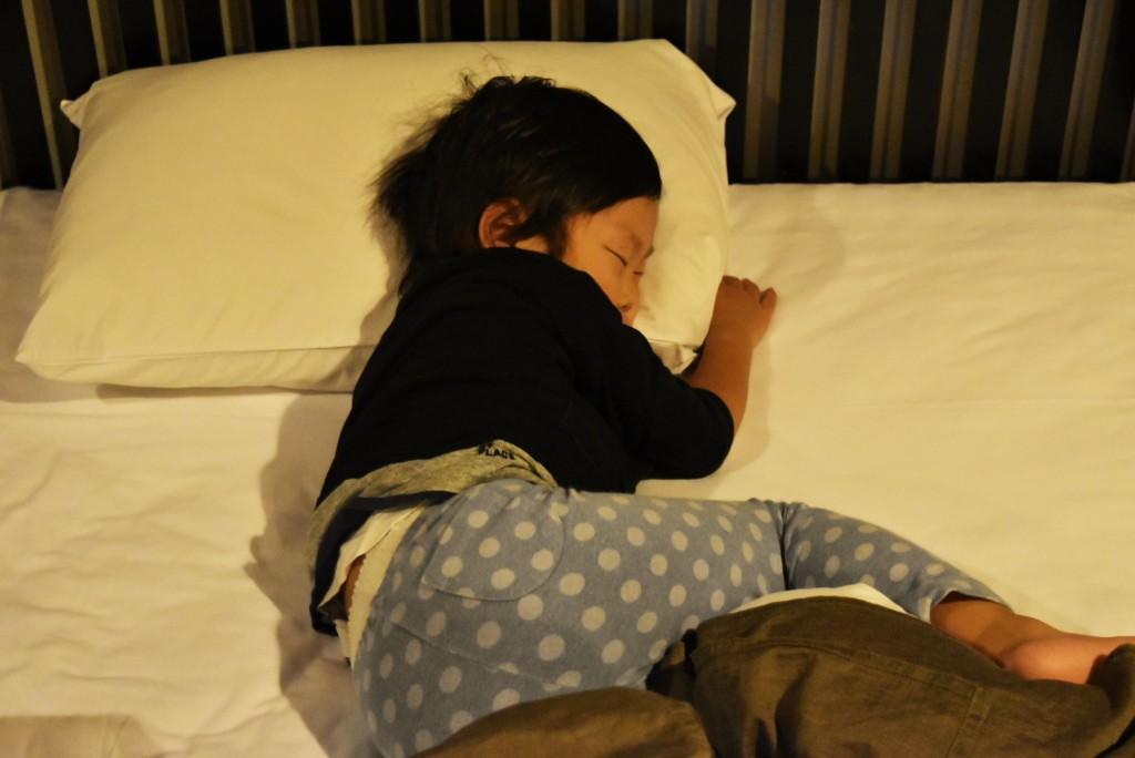 やっと寝た龍之介