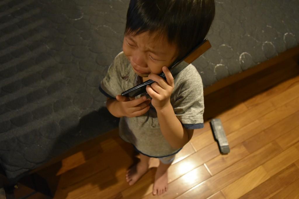 泣き出す龍之介