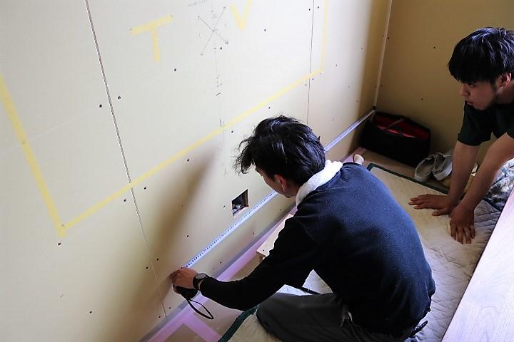 ZENⅢテレビボード造作取付完了までの写真 (2)