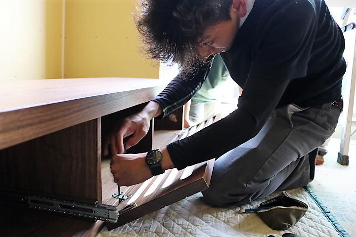 富山 ミヤモト家具 テレビボード特注家具 テレビボード造作家具