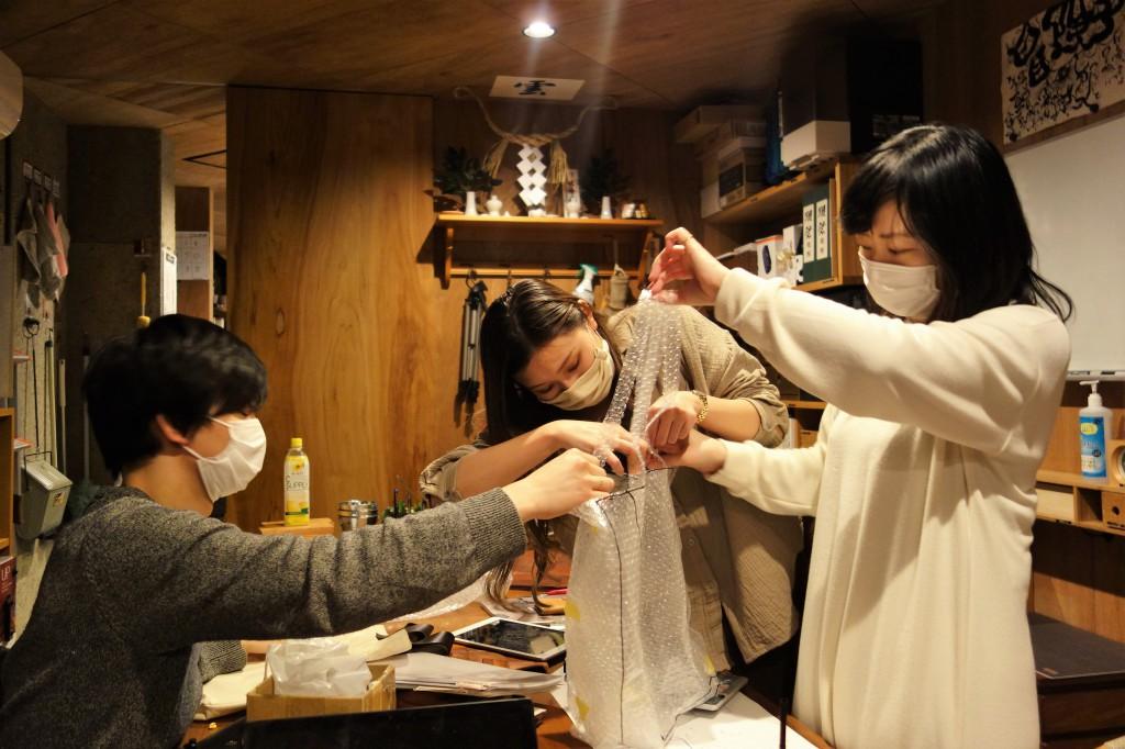 帆布・アーミーダックのトートバック開発中 (15)
