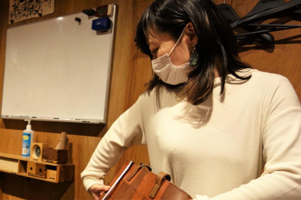帆布・アーミーダックのトートバック開発中 (3)