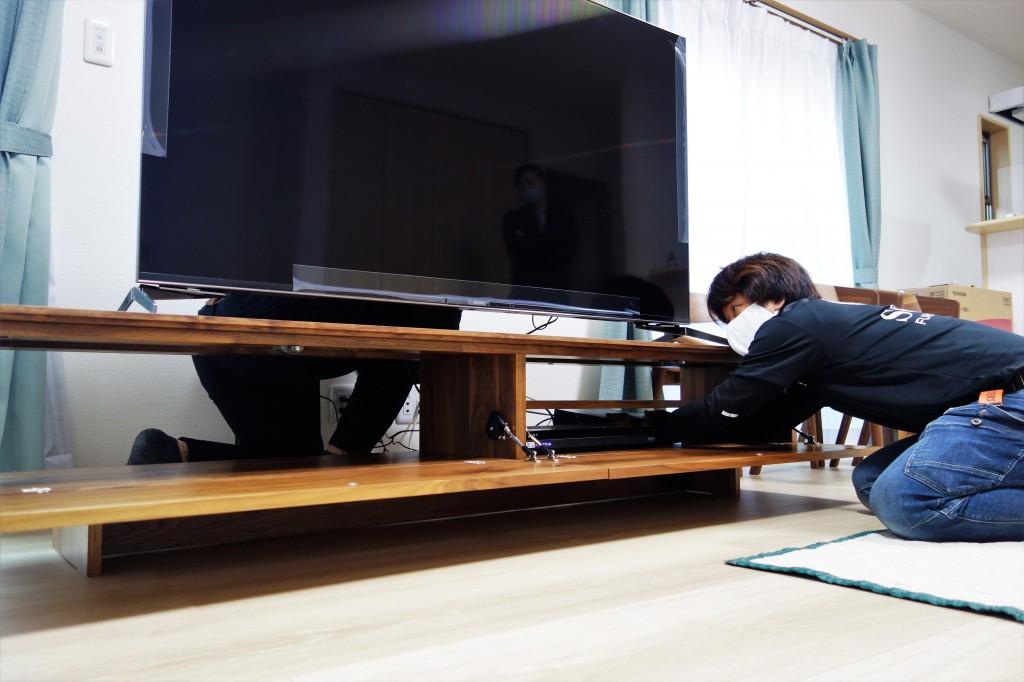 遠方配送 関東圏 ミヤモト家具 お客様宅へお届け (10)