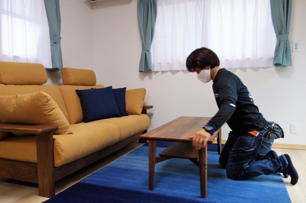 遠方配送 関東圏 ミヤモト家具 お客様宅へお届け (17)