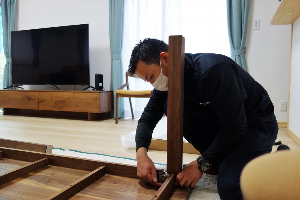 遠方配送 関東圏 ミヤモト家具 お客様宅へお届け (22)