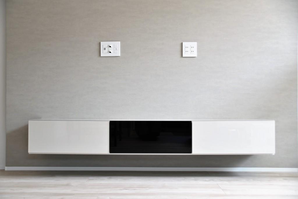 特注・造作テレビボード UV ホワイト色 ミヤモト家具【補欠】 (1)